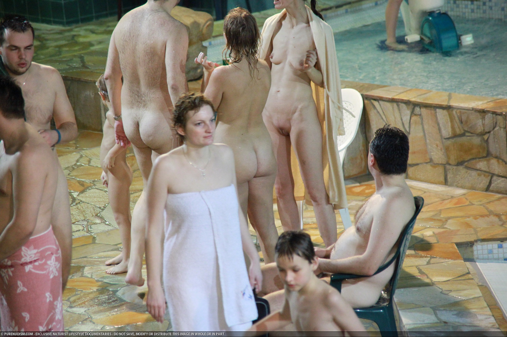 winter nudist family